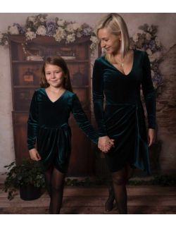 by royal baby edition Luna aksamitna elegancka wizytowa sukienka dla mamy i córki