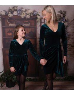 by royal baby edition Luna aksamitna elegancka sukienka dla mamy i córki
