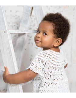 By Royal Baby biała sukienka dla dziewczynki do chrztu /roczek pure baby