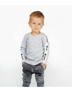 Bluzka dziecięca szara długi rękaw - logo Shark