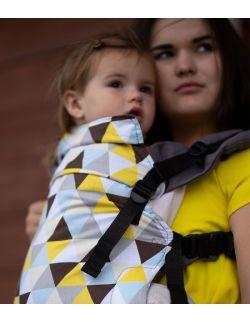nosidełko multi grow :yellow triangles, 100 % bawełna