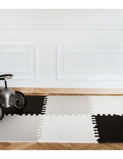 Mata biało-szaro-czarna rozmiar XL