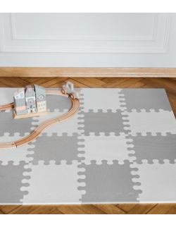 Mini puzzle L - 16 szt. biało- szara