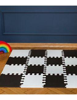 Mini puzzle L - 16 szt. biało - czarne