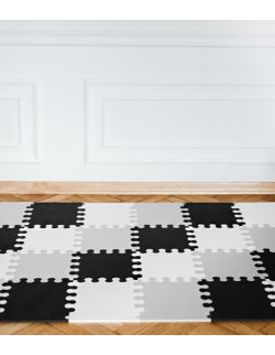 Mini puzzle XL - 24 szt. biało-czarno-szare