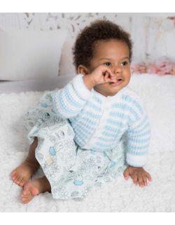 By Royal Baby Edition bluzeczka wełniany sweterek niemowlęcy do chrztu handmade Blue