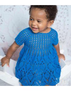 by royal baby Sophie granatowa letnia sukienka dla dziewczynki handmade