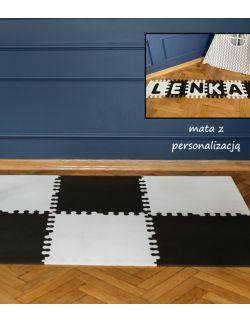 Mata biało-czarna z imieniem rozmiar XL