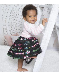 by royal baby elegancka czarna spódniczka dla dziewczynki