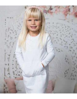 By Royal Baby Sportowa Sukienka dla dziewczynki z kieszonką Basic Sport Line