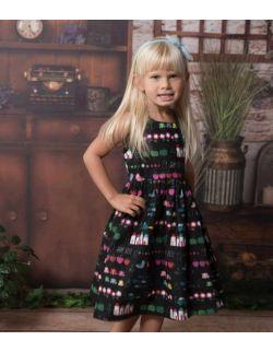 By Royal Baby Elegancka czarna Sukienka dla dziewczynki