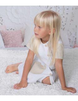 By Royal Baby lniana elegancka sukienka dla dziewczynki Retro Vintage