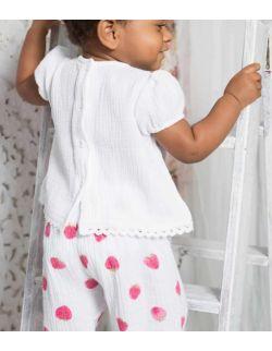 By Royal Baby elegancki komplet dla dziewczynki strawberry dream
