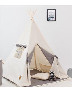 Namiot tipi dla dziecka Naturalna Szarość