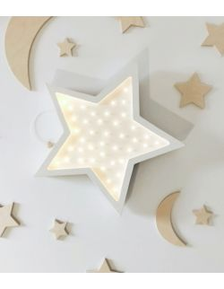 Drewniana lampka gwiazdka