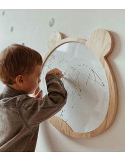 Drewniane tablica suchościeralna magnetyczna miś