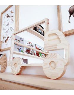 Drewniane lusterko ciężarówka