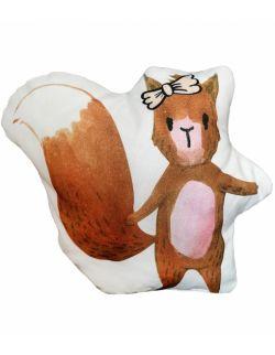 """Poduszka dekoracyjna """"wiewiórka z kokardką"""""""