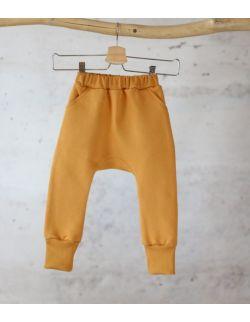 spodnie dresowe MUSZTARDOWY uszytek ROZMIARY OD 62-68 DO 86-92