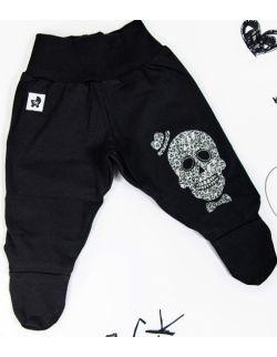 Rockowe czarne półśpiochy dziecięce Skull Boy