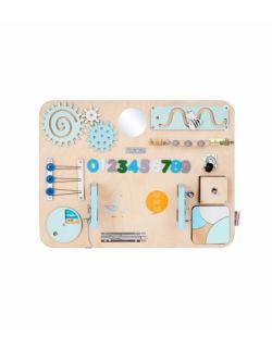 Personalizowana tablica manipulacyjna Woobiboard MIDI naturalna z błękitem