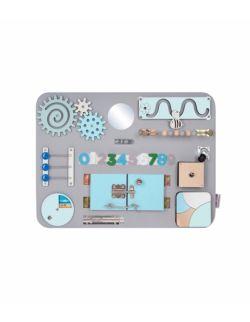 Personalizowana tablica manipulacyjna Woobiboard MIDI szara z błękitem