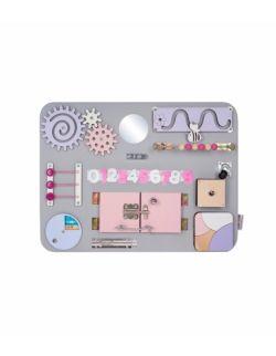 Personalizowana tablica manipulacyjna Woobiboard MIDI szara z różem