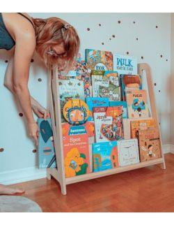 Biblioteczka Montessori – regał na książki dla dzieci HINGI Miru Naturalny