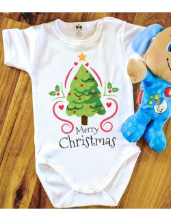 Body Merry Christmas z choinką