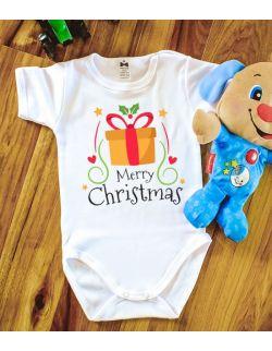 Body Merry Christmas z prezentem