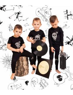 Rockowe czarne legginsy dziecięce Rock Star