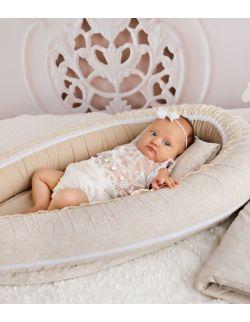 Kokon niemowlęcy- kremowy
