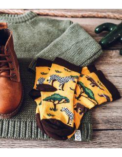 Zestaw 2 par skarpet z kolekcji Kenijskiej dla rodzica i dziecka
