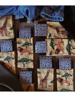 Zestaw 4 par skarpet z kolekcji Kenijskiej dla rodziców i dzieci