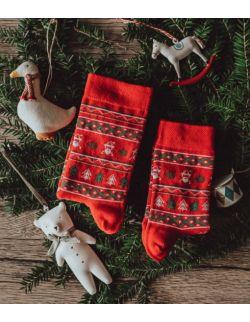 Zestaw 2 par skarpet świątecznych dla rodzica i dziecka