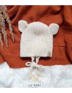bear bonnet ecru