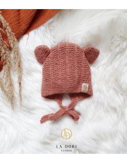 Bear bonnet Blush