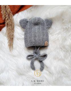 bear bonnet Szary