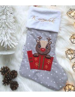 skarpeta świąteczna reniferek - kuamka
