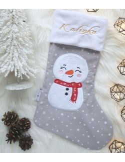skarpeta świąteczna bałwanek - Kuamka