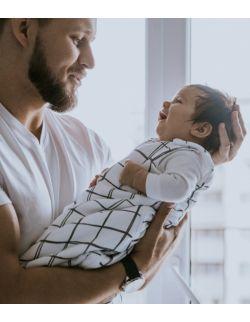 Śpiworek niemowlęcy 0-6 msc Kratka