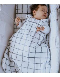 Śpiworek niemowlęcy 4-18 msc Kratka