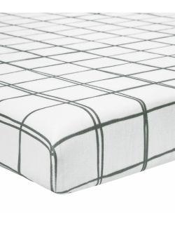 Prześcieradło do łóżeczka 120x60 kratka