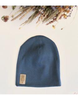 czapka niebieski uszytek