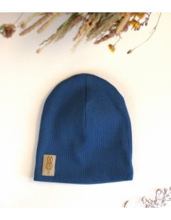 czapka błękitny uszytek