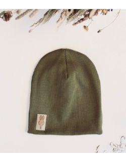 czapka oliwkowy uszytek