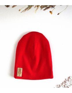 czapka czerwony uszytek