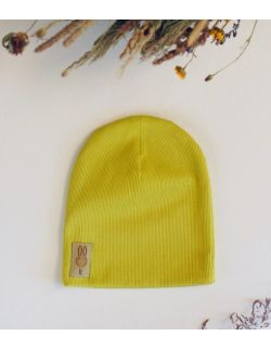 czapka limonkowy uszytek