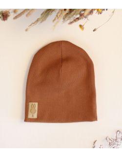 czapka brązowy uszytek