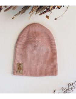 czapka brzoskwiniowy uszytek